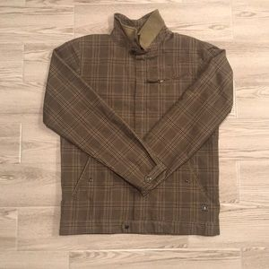 Volcom plaid zip up jacket